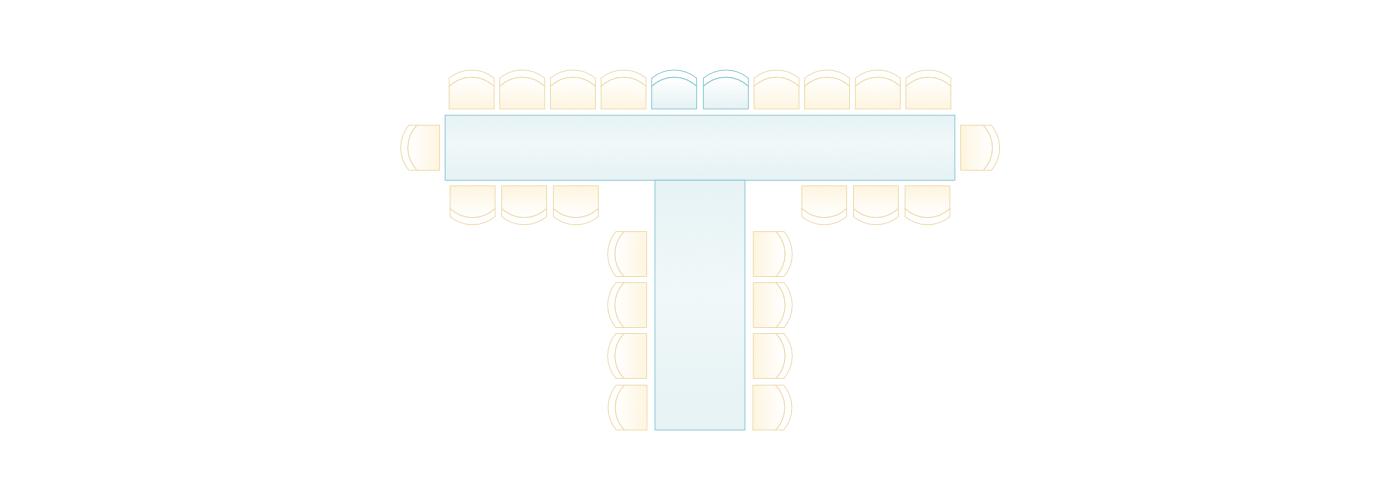 Tischordnung T-Form