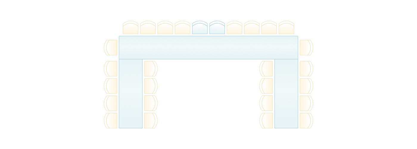 Tischordnung U-Form