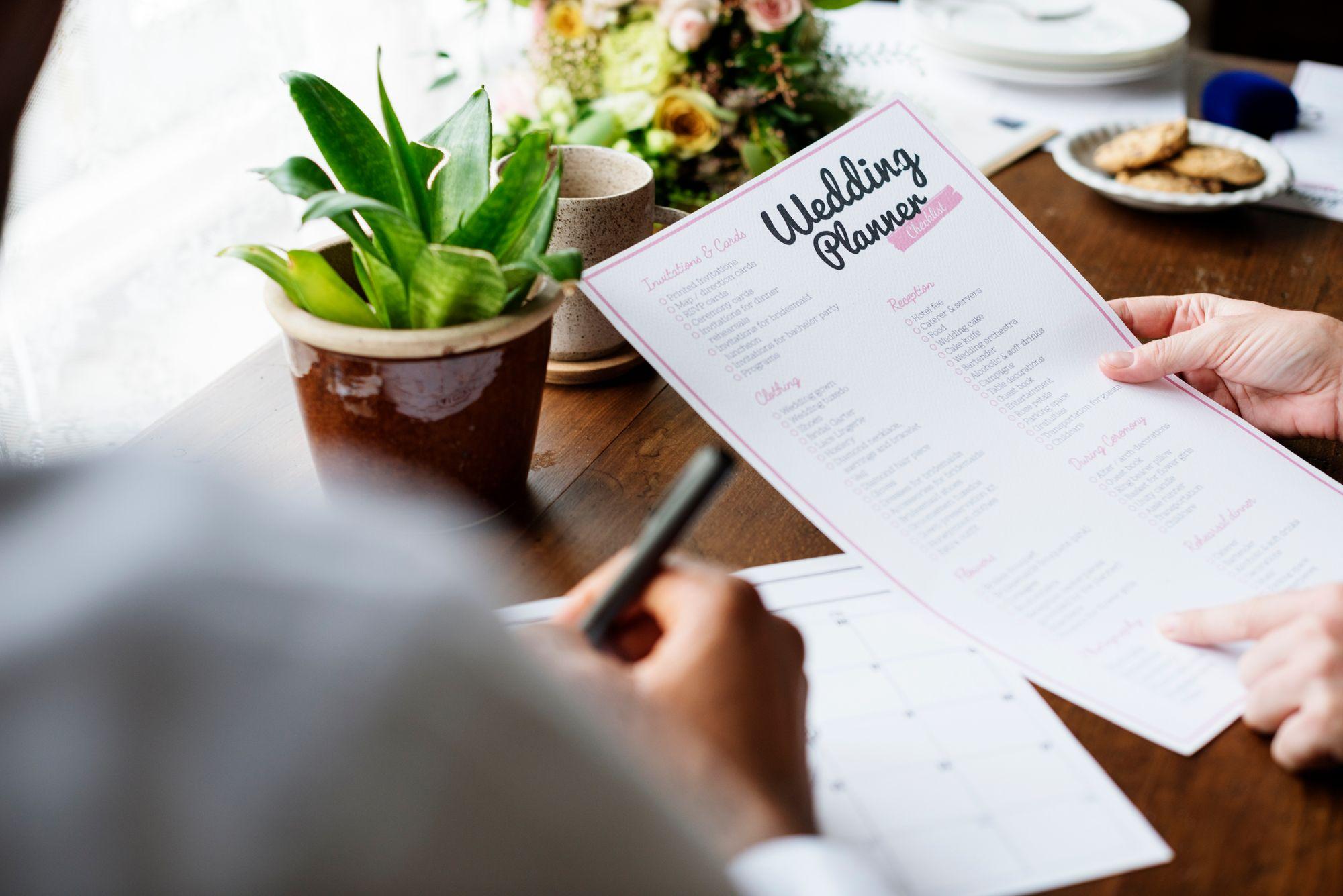 Checkliste fuer die Hochzeitsplanung mit den wichtigsten To-dos