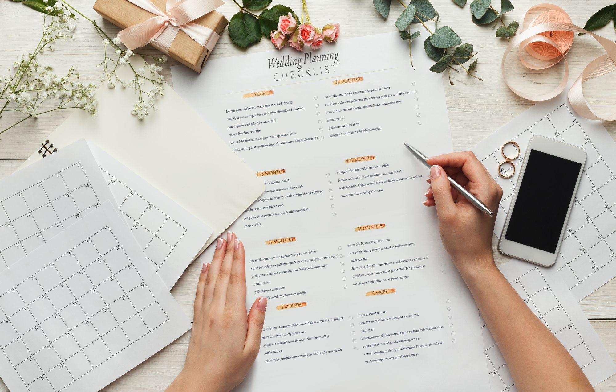 Checklisten fuer den Hochzeitsordner