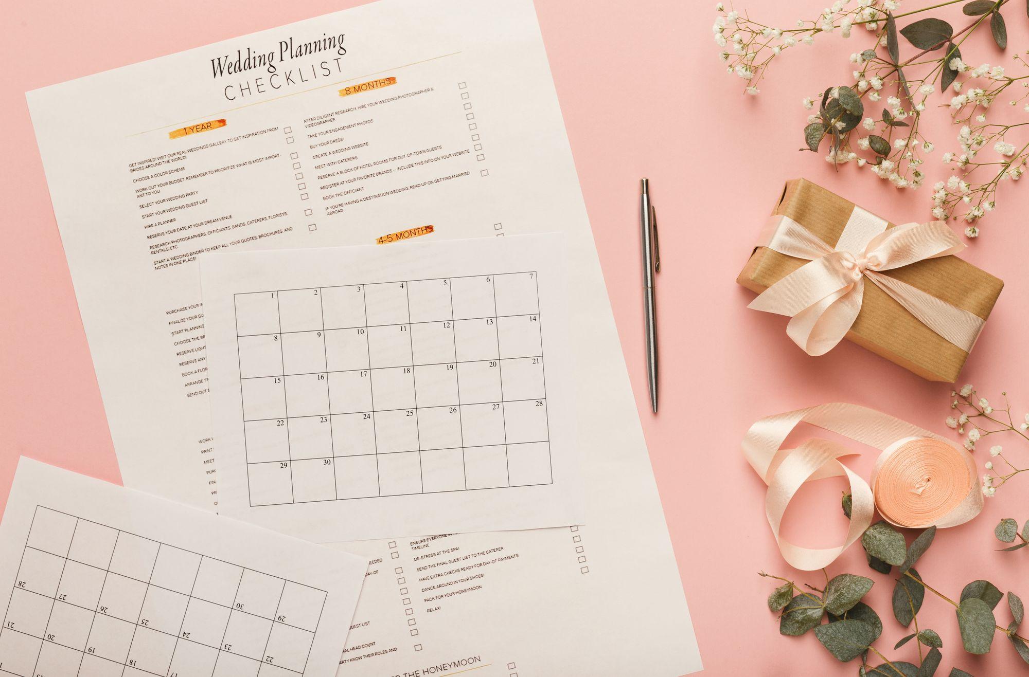 Checklisten für die Kosten einer Hochzeit