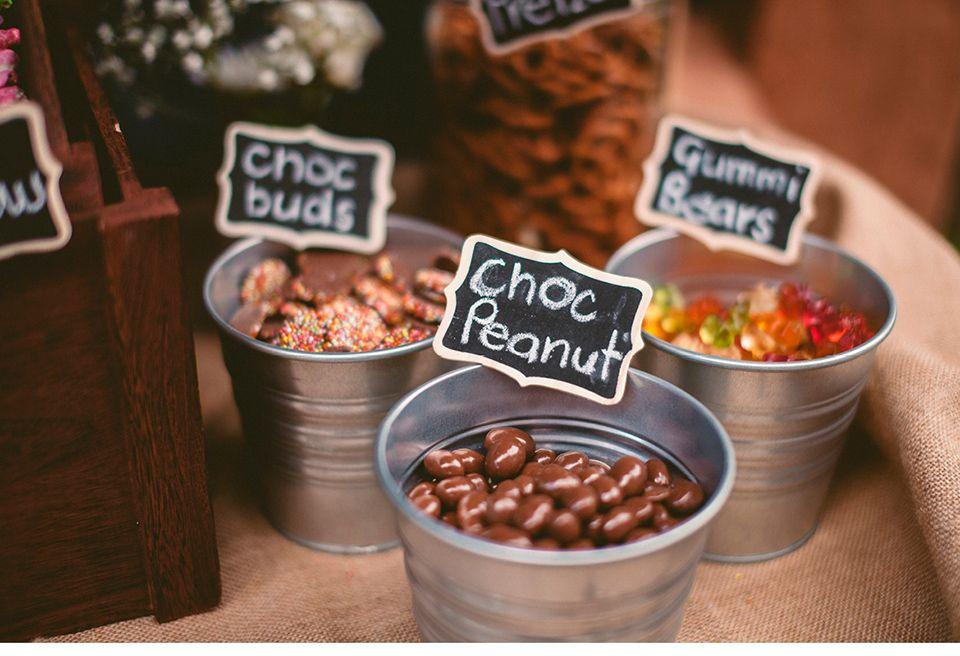 Candybar zum selber kreieren im Hochzeitsprogramm