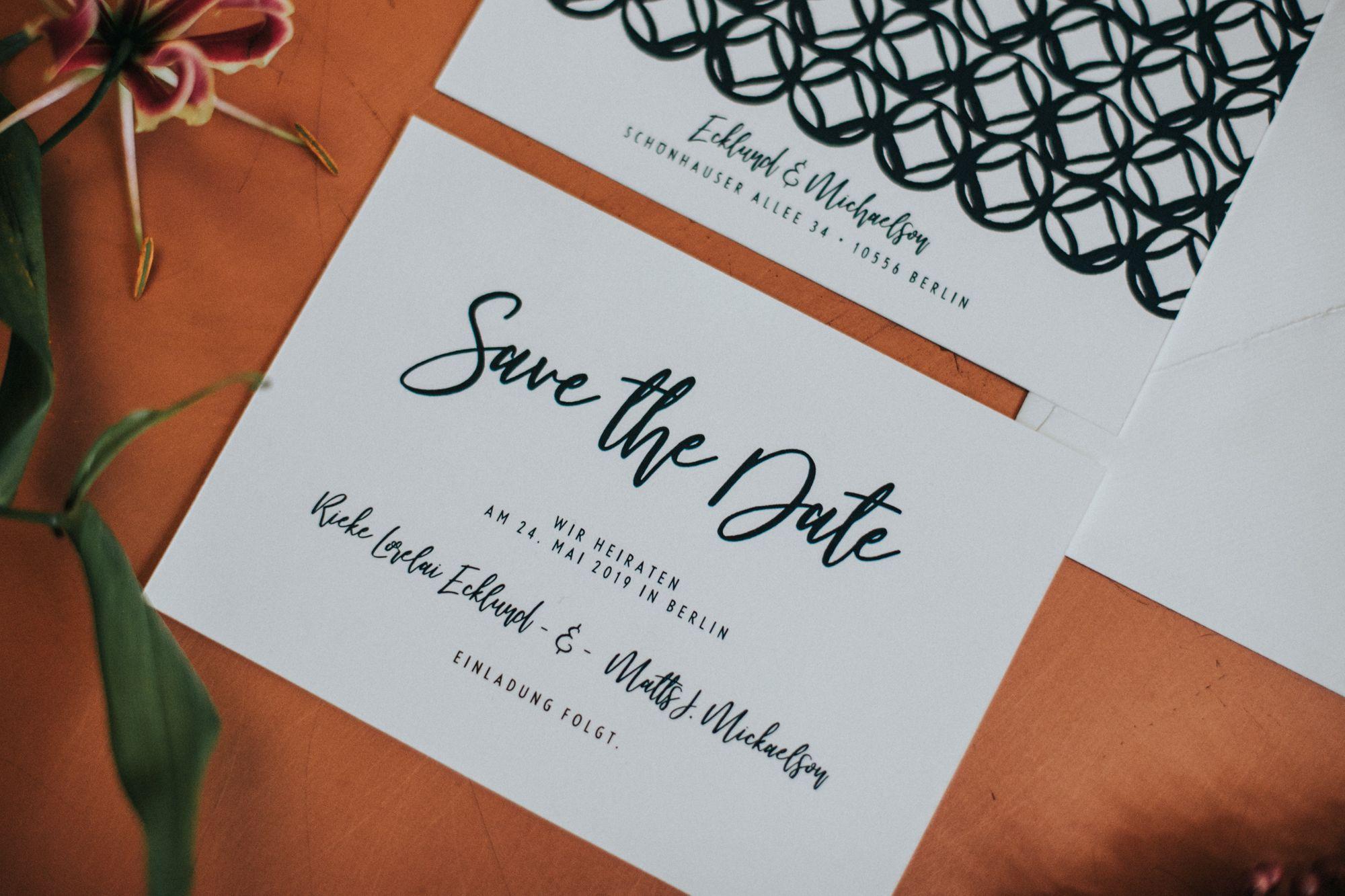Save The Date Karte fürs Hochzeitsdatum