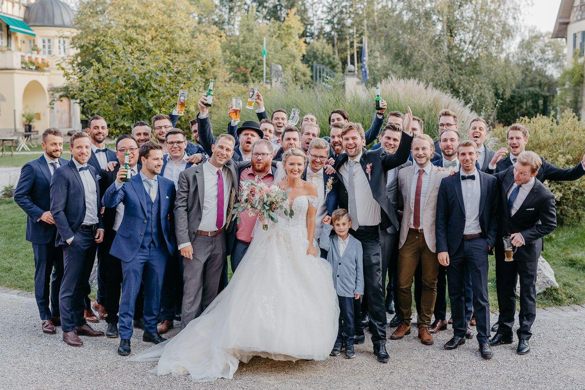 Hochzeitsgäste auf einer Hochzeit